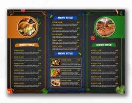 #87 cho Design a menu bởi glittergraphics