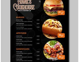#85 cho Design a menu bởi ashadurrahman4