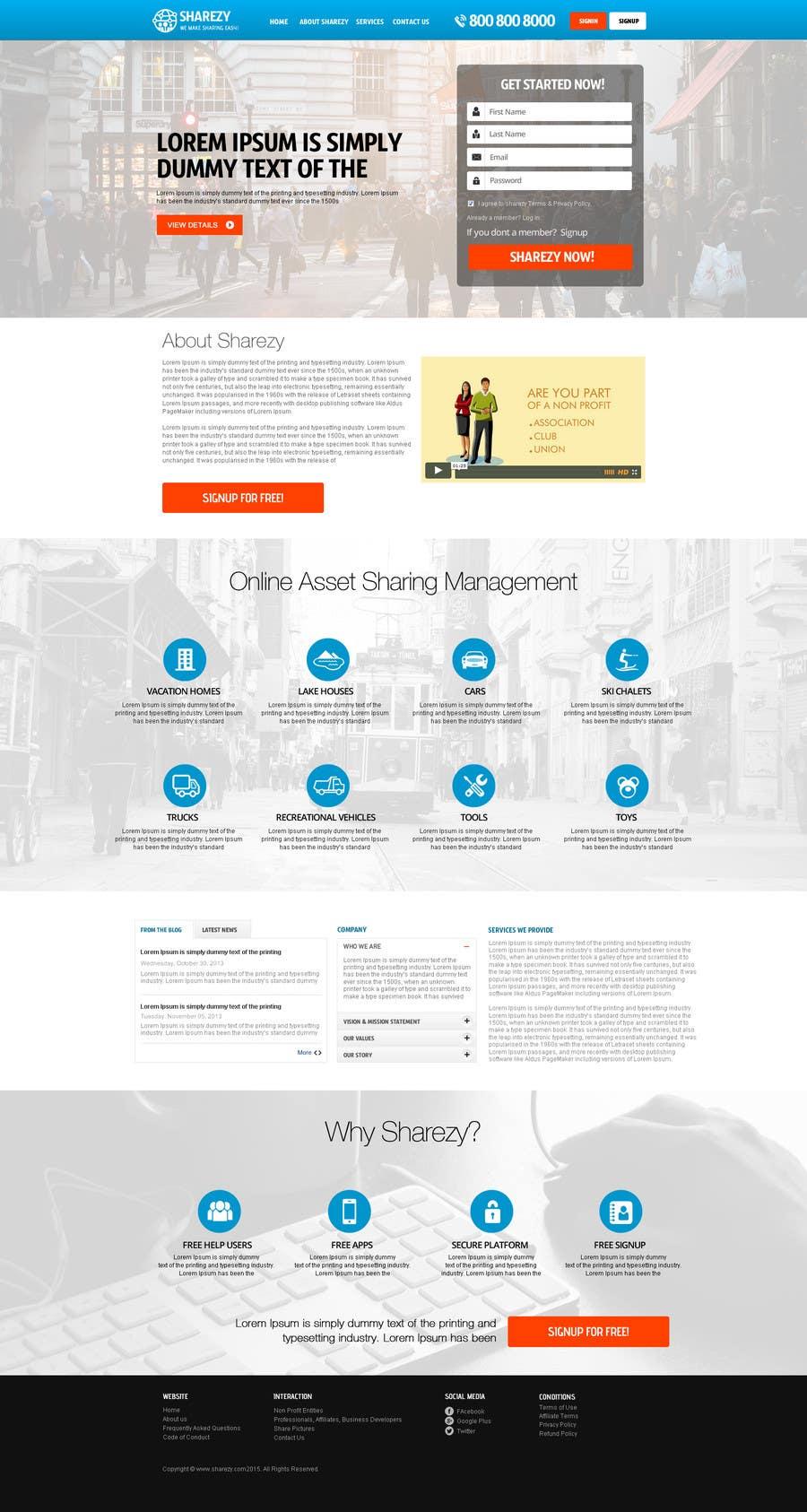 Penyertaan Peraduan #39 untuk Design a Website and Logo Mockup for a new Online Asset Sharing Service