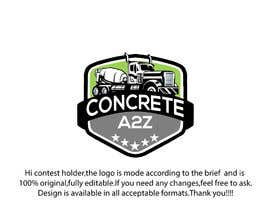 Nro 153 kilpailuun Logo for A2Z Concrete käyttäjältä monichakrabarty