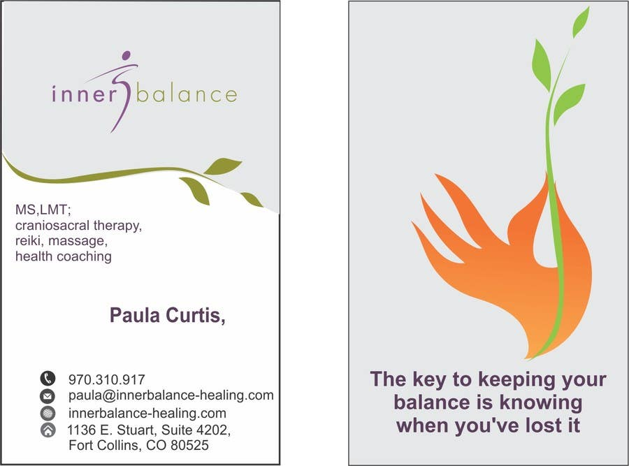 Contest Entry #                                        18                                      for                                         Design Some Business Cards for Therapeutic Massage Practice