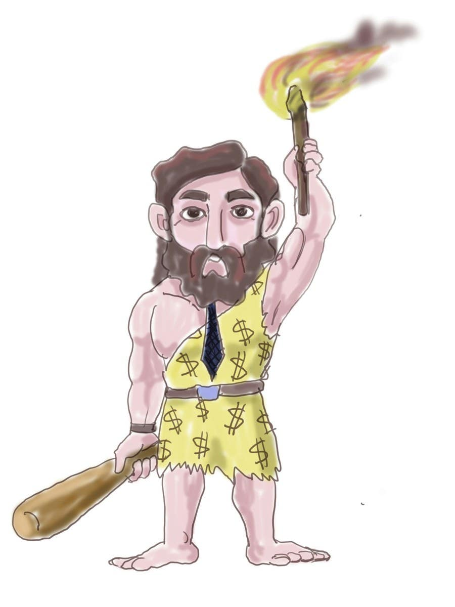 Kilpailutyö #11 kilpailussa Draw a Caveman (who is a businessman)