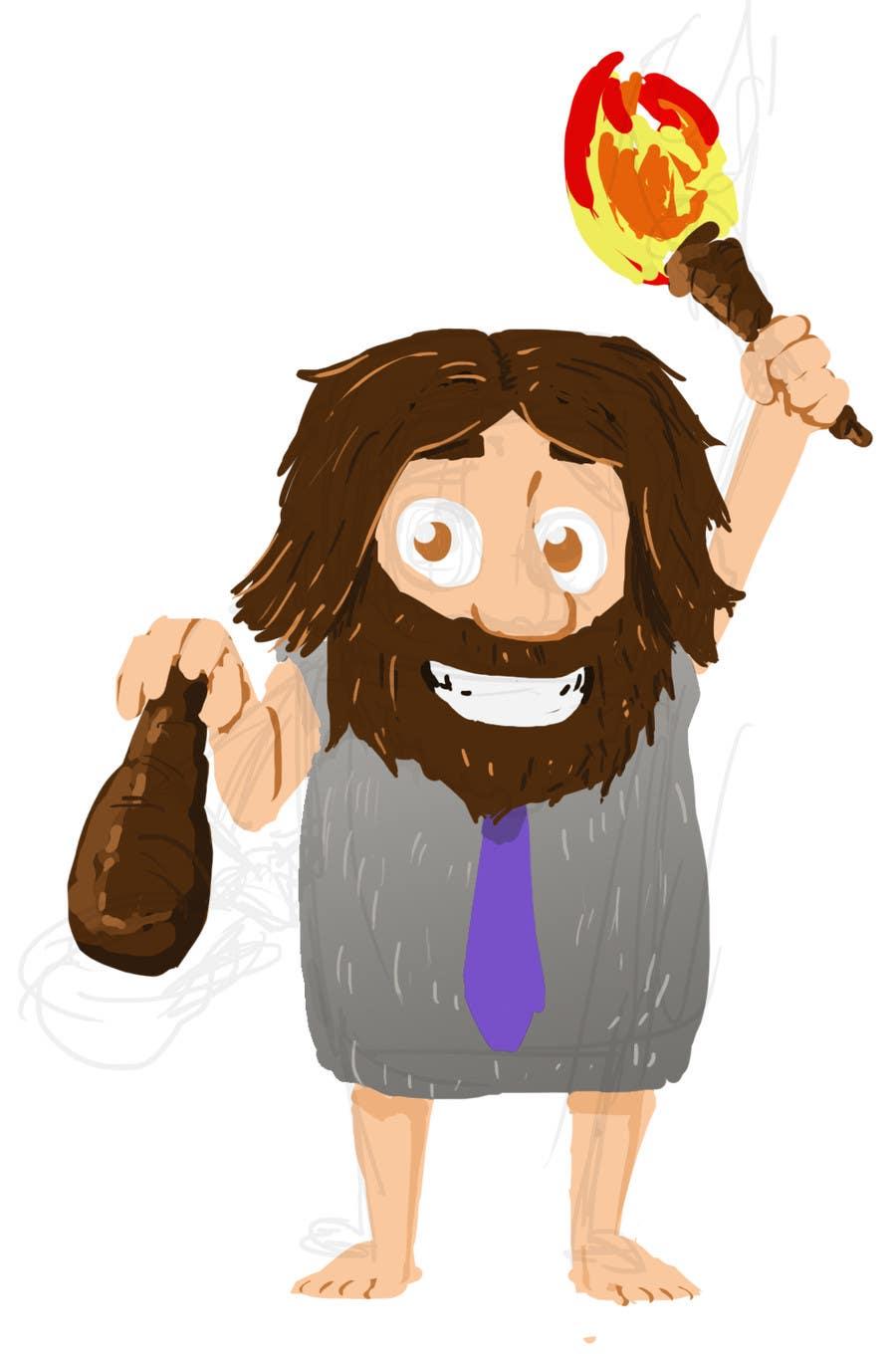 Kilpailutyö #20 kilpailussa Draw a Caveman (who is a businessman)