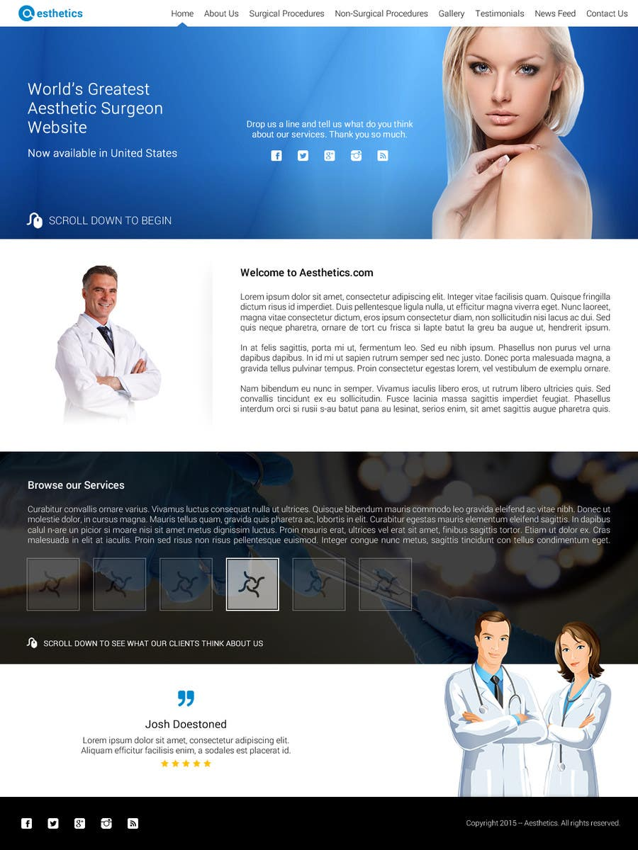 Contest Entry #                                        20                                      for                                         Design a Website Mockup for aesthetic surgery
