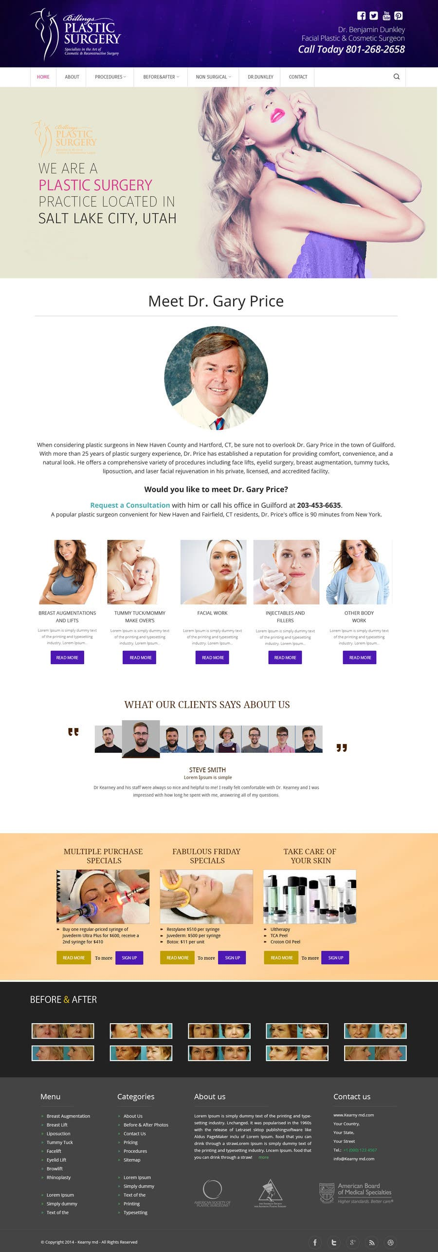 Contest Entry #                                        26                                      for                                         Design a Website Mockup for aesthetic surgery