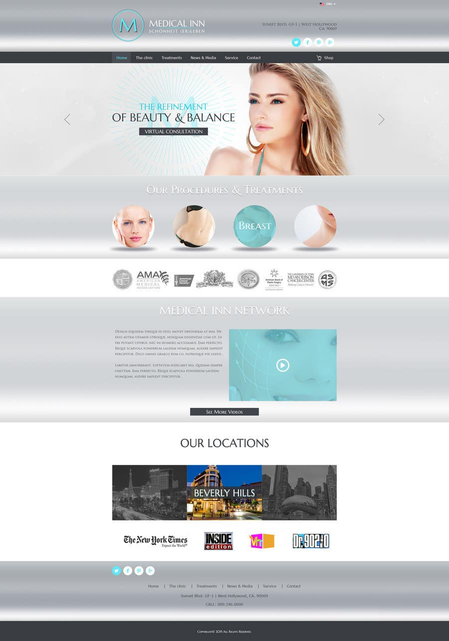 Contest Entry #                                        12                                      for                                         Design a Website Mockup for aesthetic surgery