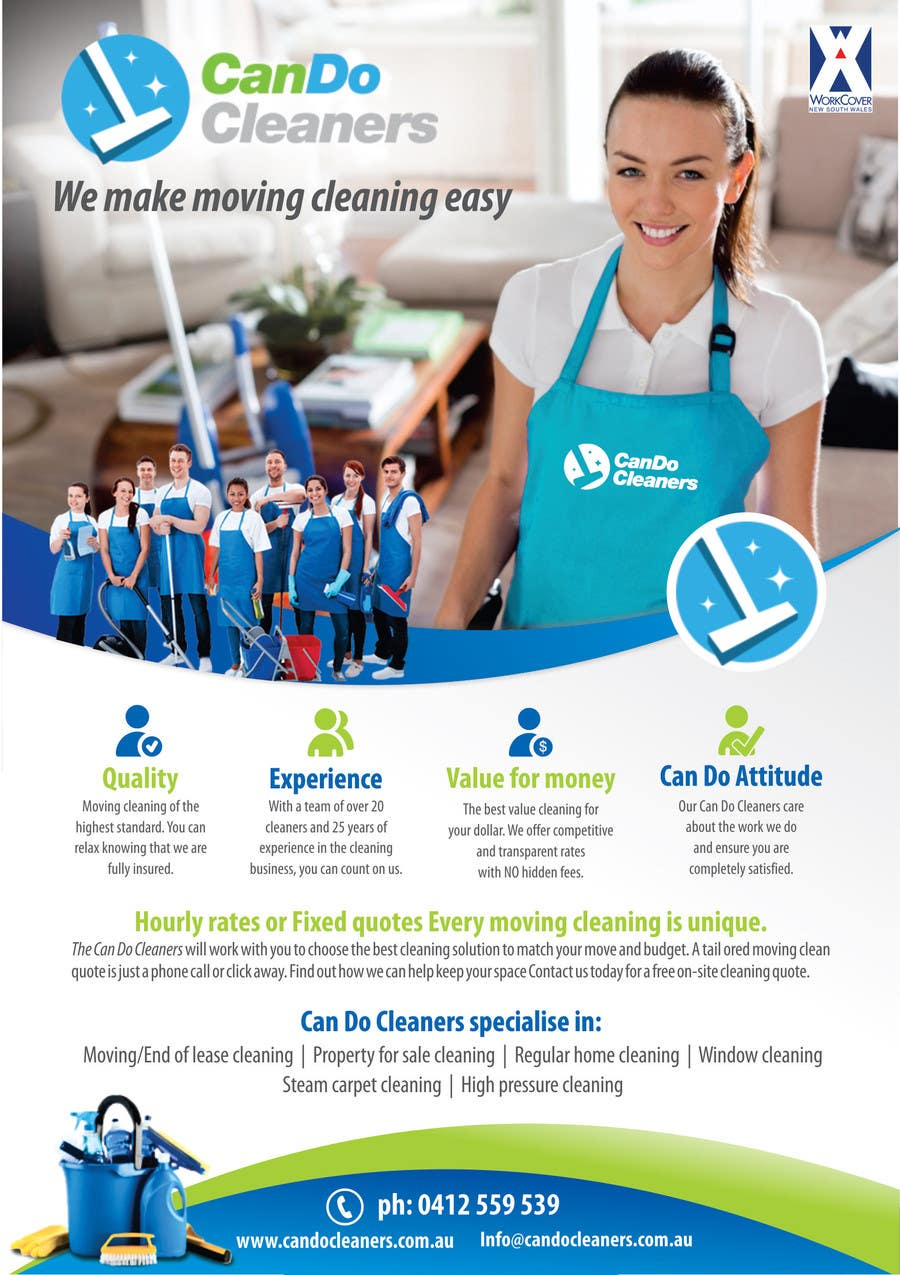 design a flyer for a house cleaning company lancer 21 for design a flyer for a house cleaning company by cristinadpi