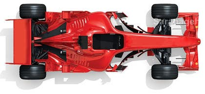 #36 untuk Need TOP view image of Formula 1 Racing Car oleh Saranageh90