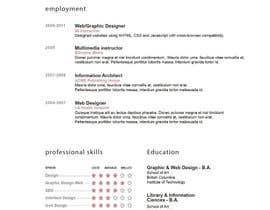 Nro 12 kilpailuun design Infographic CV käyttäjältä abhikreationz