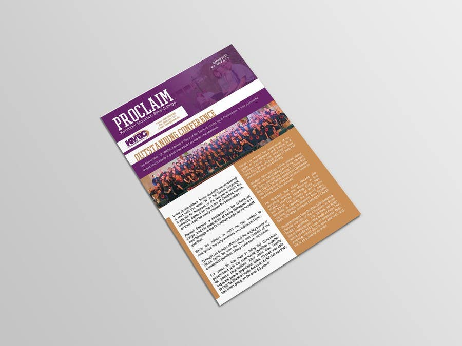 Proposition n°2 du concours Design a Brochure Newsletter for KMBC