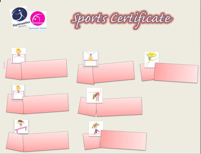 Konkurrenceindlæg #                                        7                                      for                                         Design a Sport Certificate