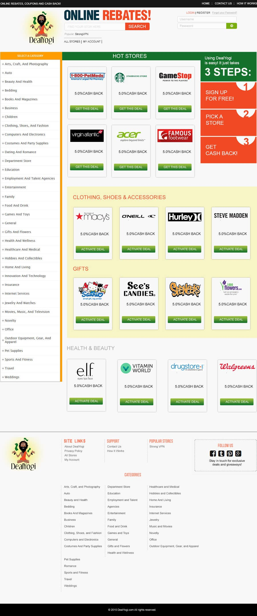 Proposition n°20 du concours Design a Website Mockup for Main Page of Deals Site