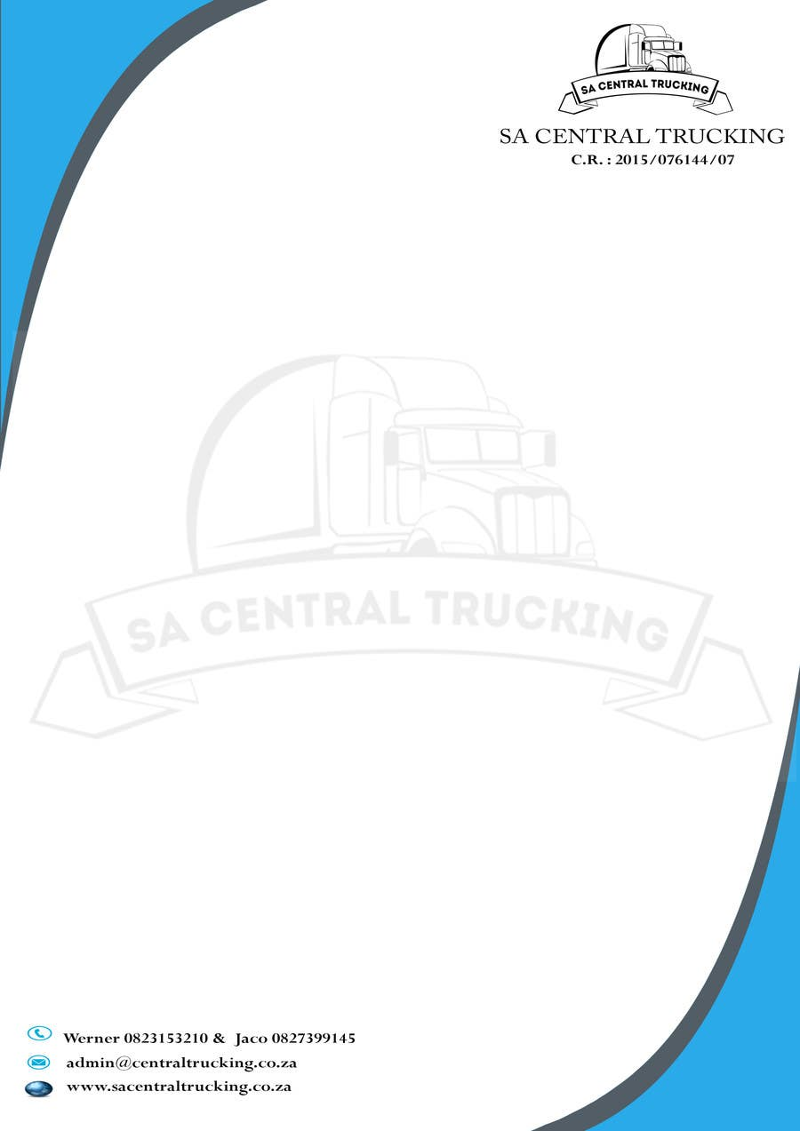 Contest Entry #                                        4                                      for                                         Design a letterhead and business cards for a trucking company