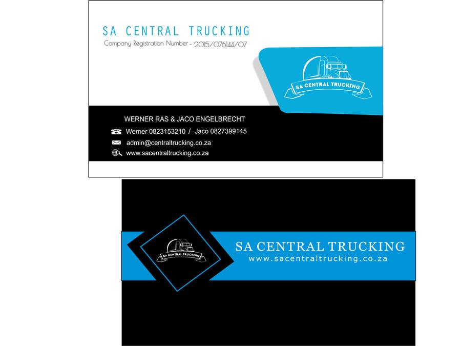 contest entry 7 for design a letterhead and business cards for a trucking company - Trucking Business Cards