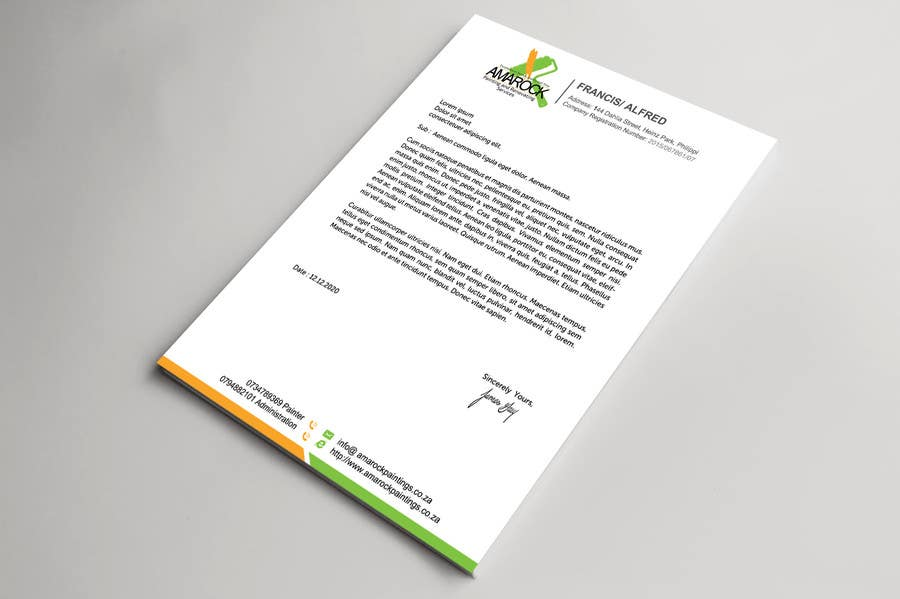 Bài tham dự cuộc thi #4 cho Design a letterhead and business cards for a painting and renovation company