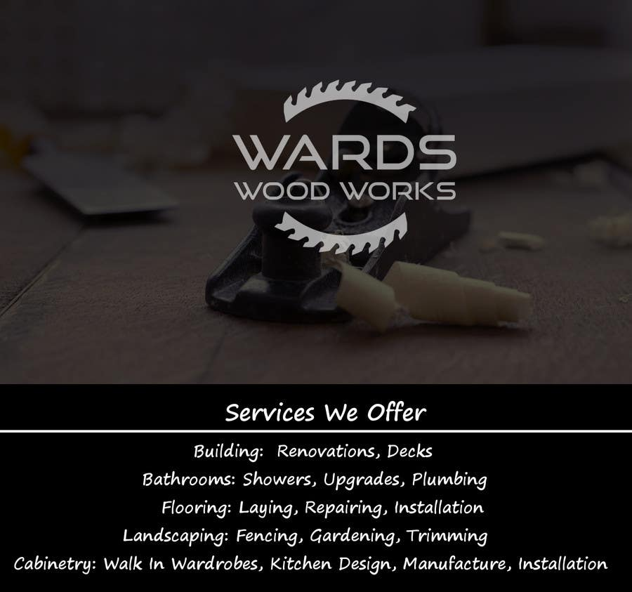 Contest Entry #24 for Design a Flyer for Woodwork/ Handyman