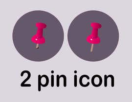 #20 for Design two icons a pin and a 'pressed' pin by rustifiedrdx