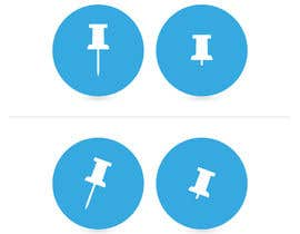 #14 for Design two icons a pin and a 'pressed' pin by mwa260387