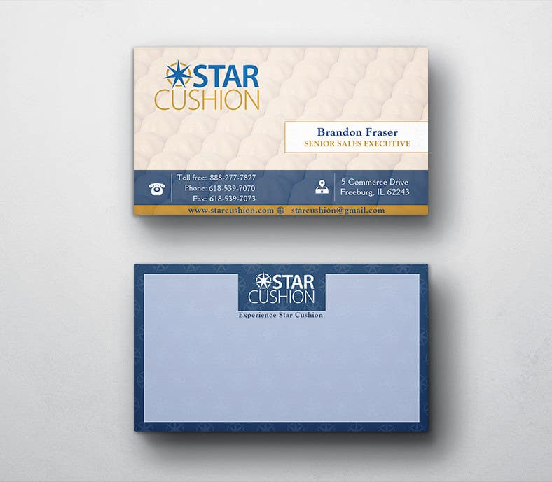 Contest Entry #                                        86                                      for                                         Design some Business Cards for Star Cushion