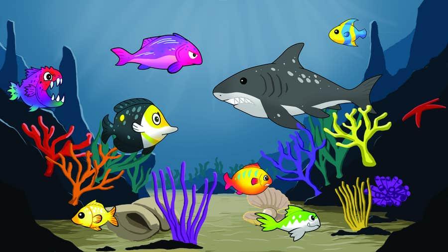 Kilpailutyö #28 kilpailussa under sea background