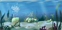 Illustration Kilpailutyö #15 kilpailuun under sea background