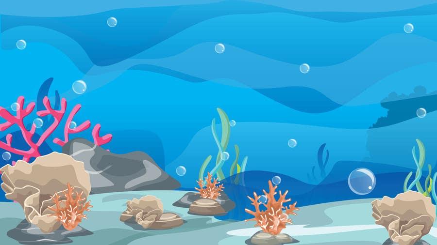 Kilpailutyö #8 kilpailussa under sea background