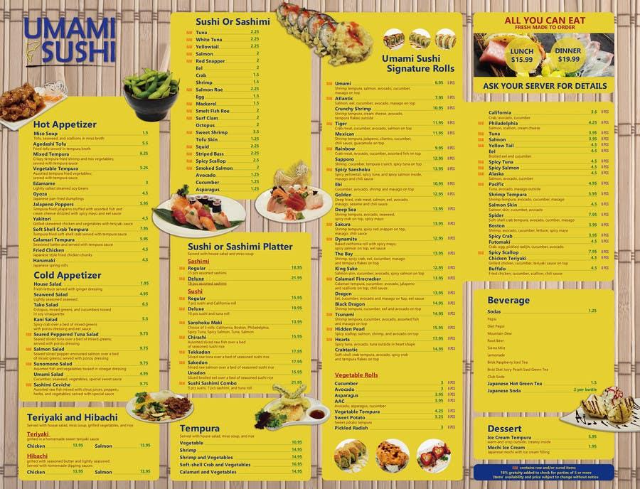 Contest Entry #                                        26                                      for                                         Restaurant Menu Design