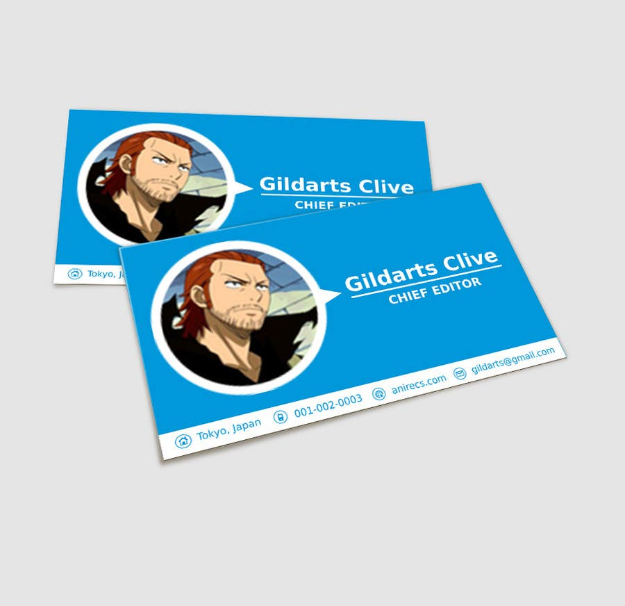 Contest Entry #                                        31                                      for                                         Design some Business Cards for anime site