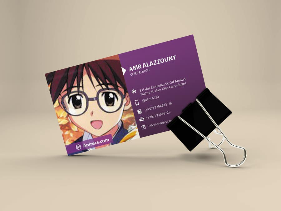Contest Entry #                                        25                                      for                                         Design some Business Cards for anime site