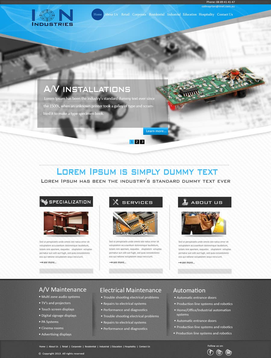 Contest Entry #24 for Build a Website for new electrical/electronic contractor