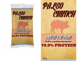 #7 para Snack food packaging bag design front. por acidbaum