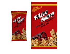 #11 para Snack food packaging bag design front. por acidbaum