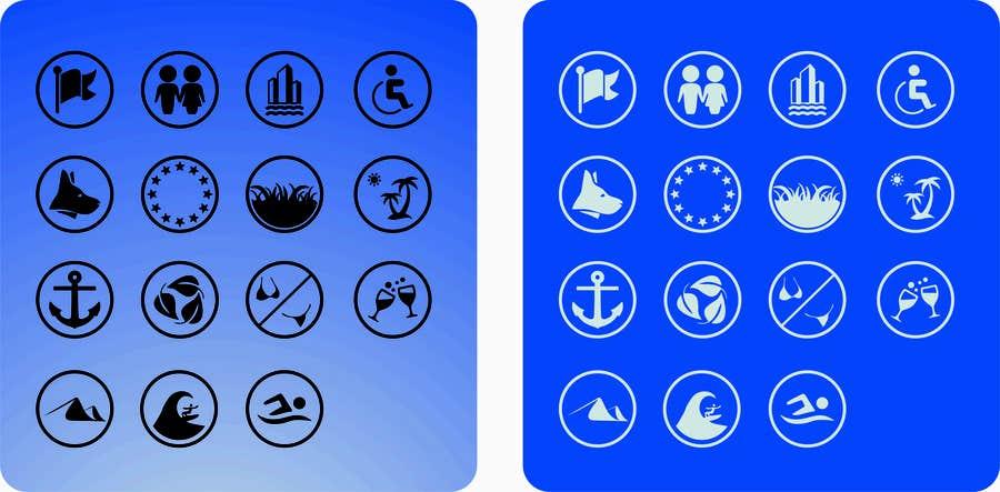 Inscrição nº 7 do Concurso para Design 15 Icons for a beach website