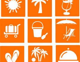 #26 for Design 15 Icons for a beach website af akmbakarhasan