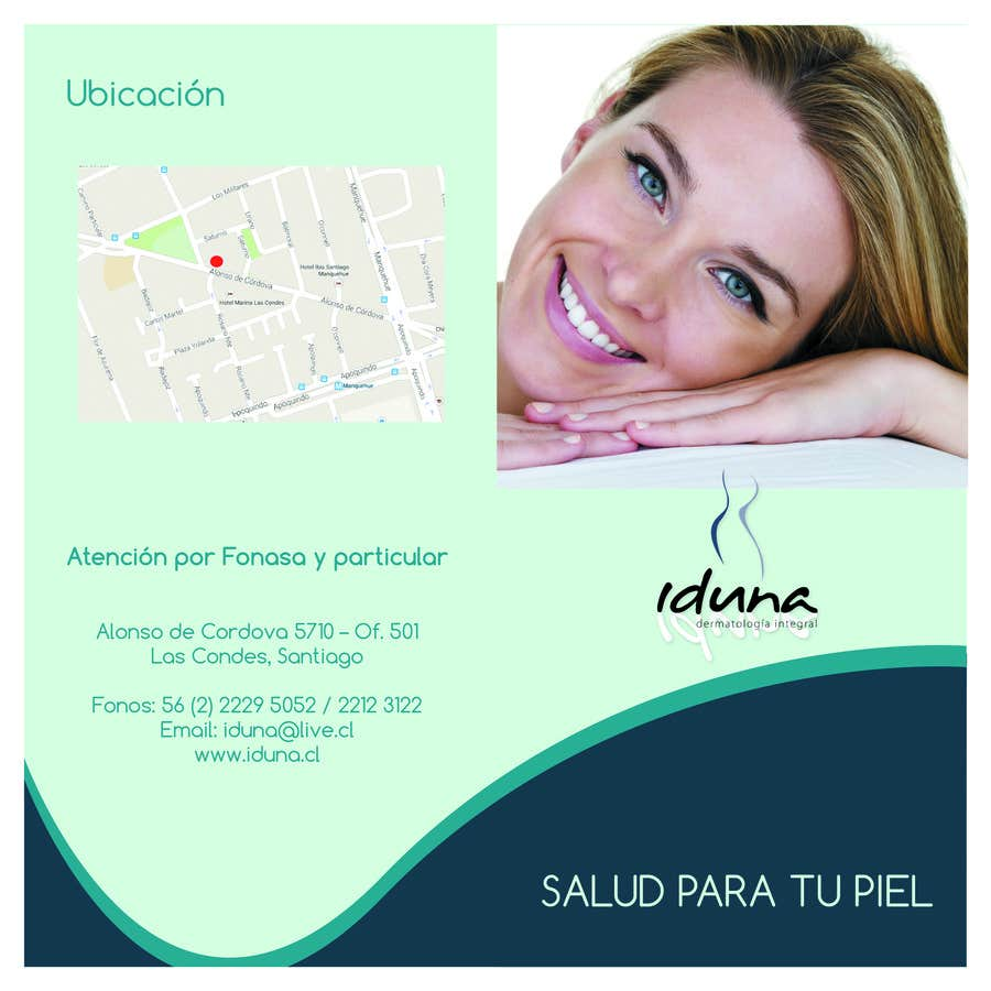 Contest Entry #7 for Diseño folleto Diptico Consulta Medica de Dermatología