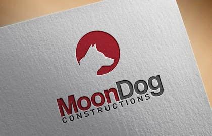 #86 for Design a Logo for MOONDOG CONSTRUCTIONS af SergiuDorin