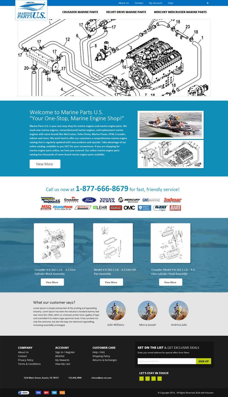 Contest Entry #                                        6                                      for                                         Design a Website Mockup for Marine Parts U.S.