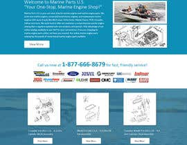 designcreativ tarafından Design a Website Mockup for Marine Parts U.S. için no 6