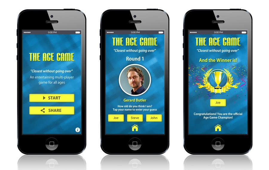 Konkurrenceindlæg #                                        7                                      for                                         Design an App Mockup for Age Game