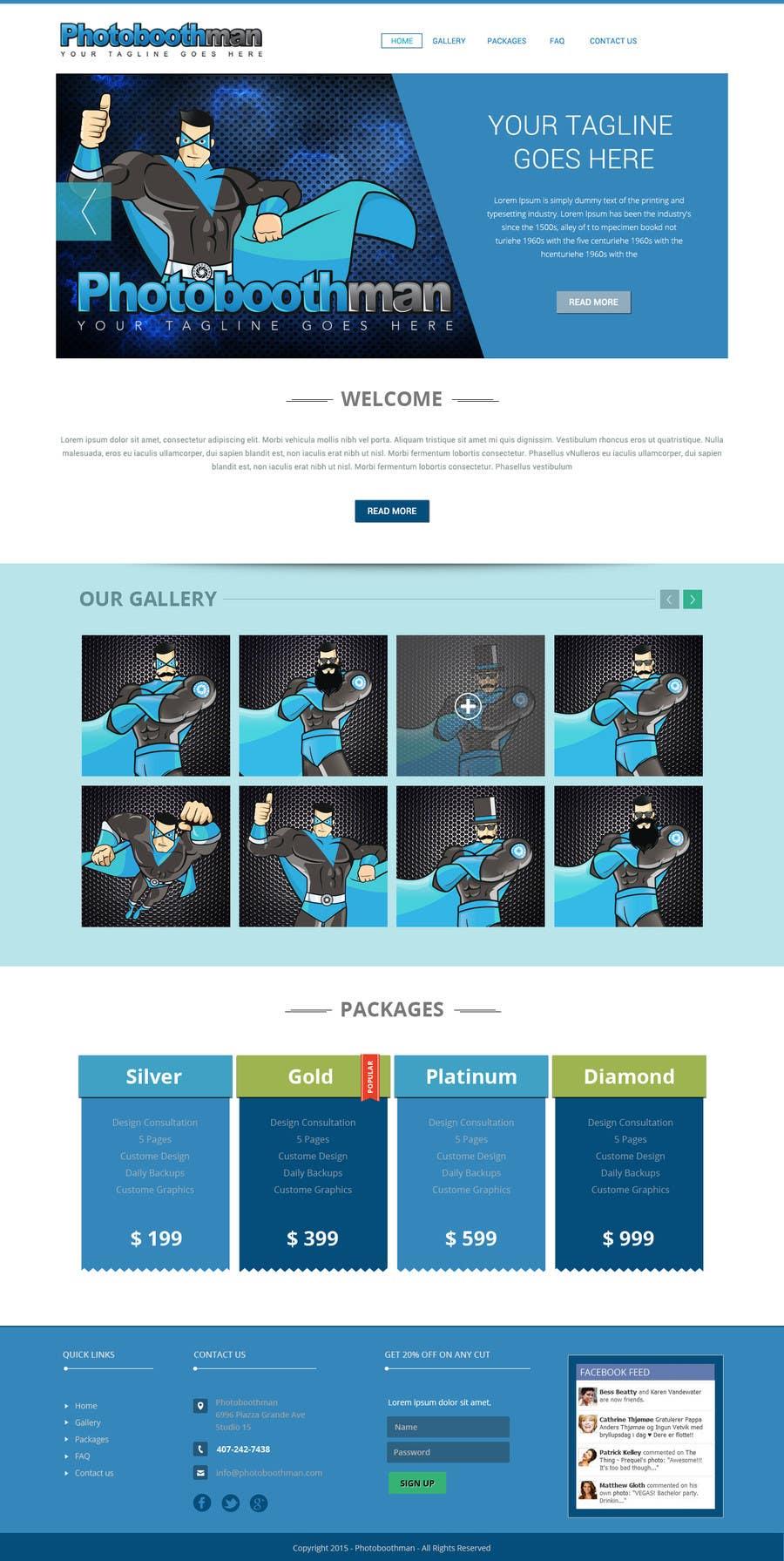 Bài tham dự cuộc thi #4 cho Design a Website Mockup & Business Card for Photobooth Company