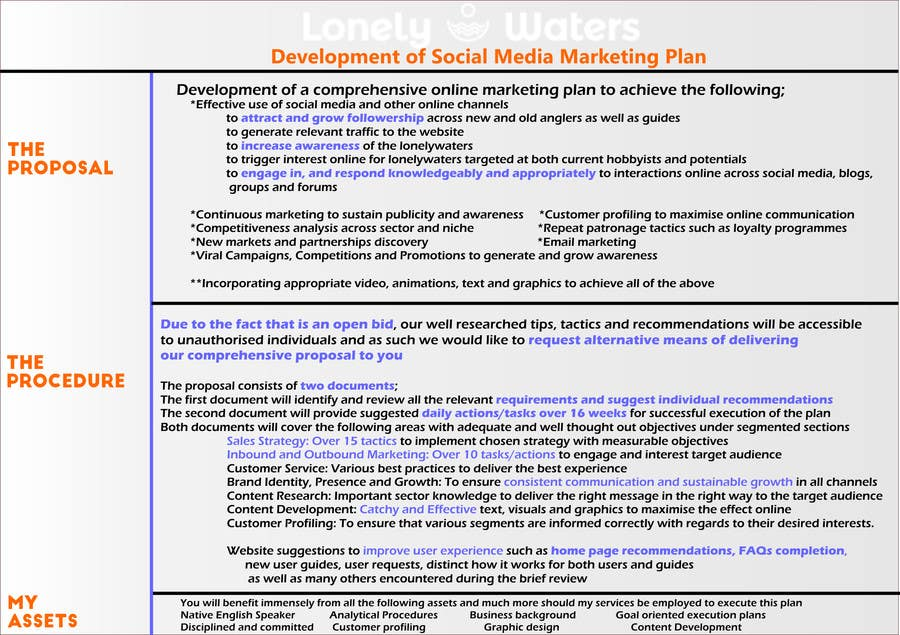 Kilpailutyö #9 kilpailussa Social Media Marketing plan for Fishing site