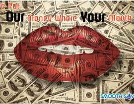 "#3 untuk Design a postcard with theme ""We put our money where your mouth is!"" oleh tpwdesign"