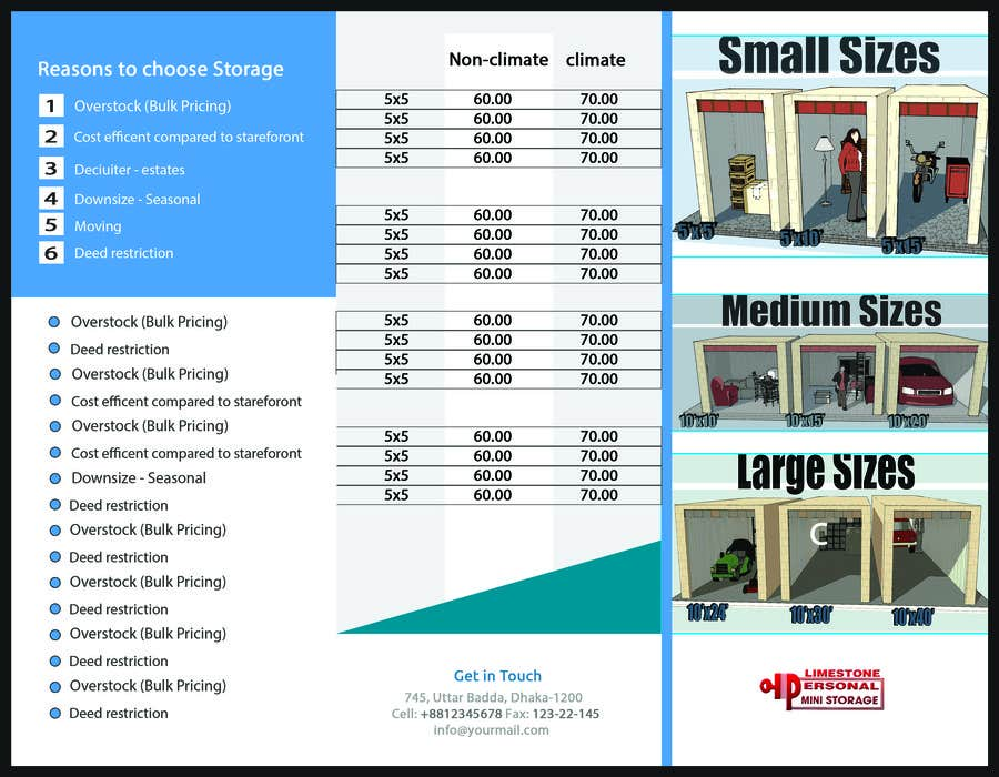 Contest Entry #                                        7                                      for                                         Design a Tr-Fold Brochure for Storage Company