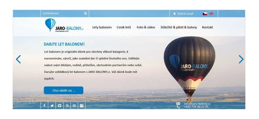 Konkurrenceindlæg #                                        4                                      for                                         Webdesign for website about balloon flights