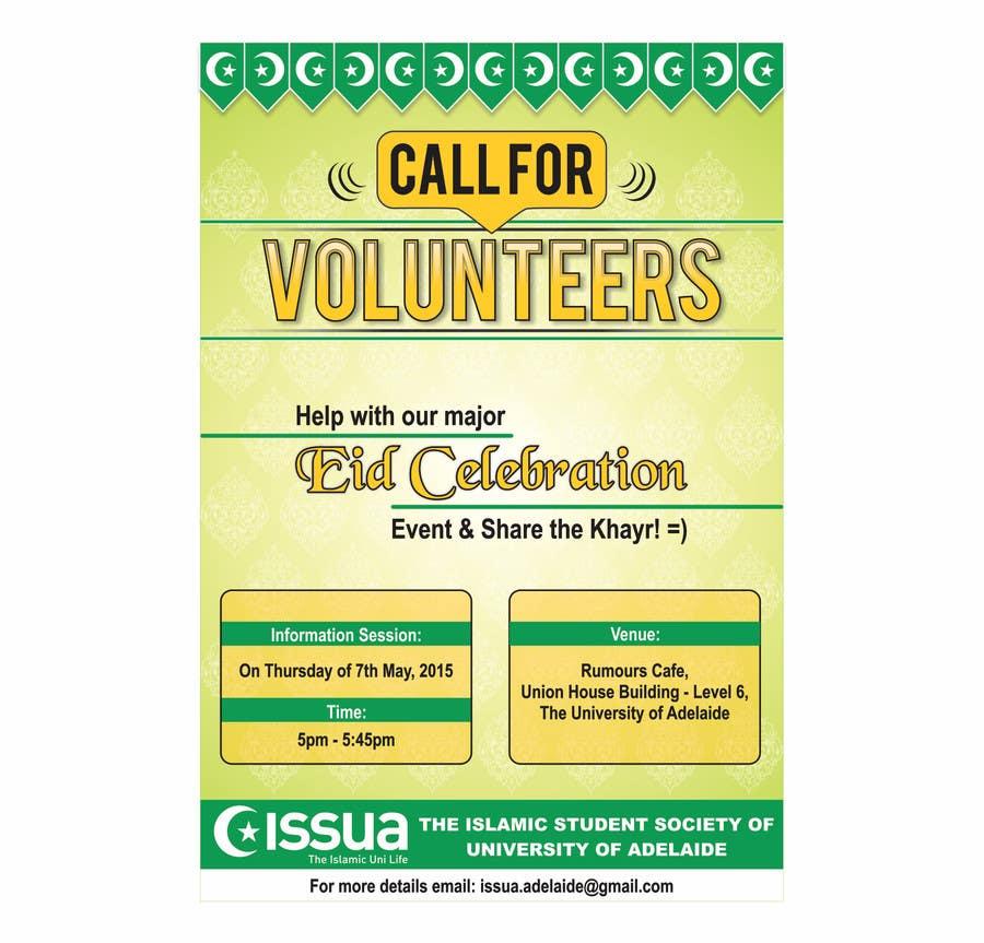 Penyertaan Peraduan #17 untuk 'Call for Volunteers' - Islamic Flyer