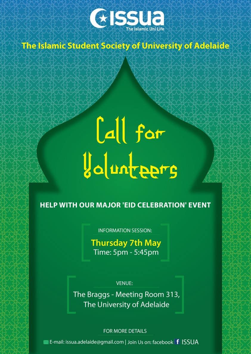 Penyertaan Peraduan #4 untuk 'Call for Volunteers' - Islamic Flyer