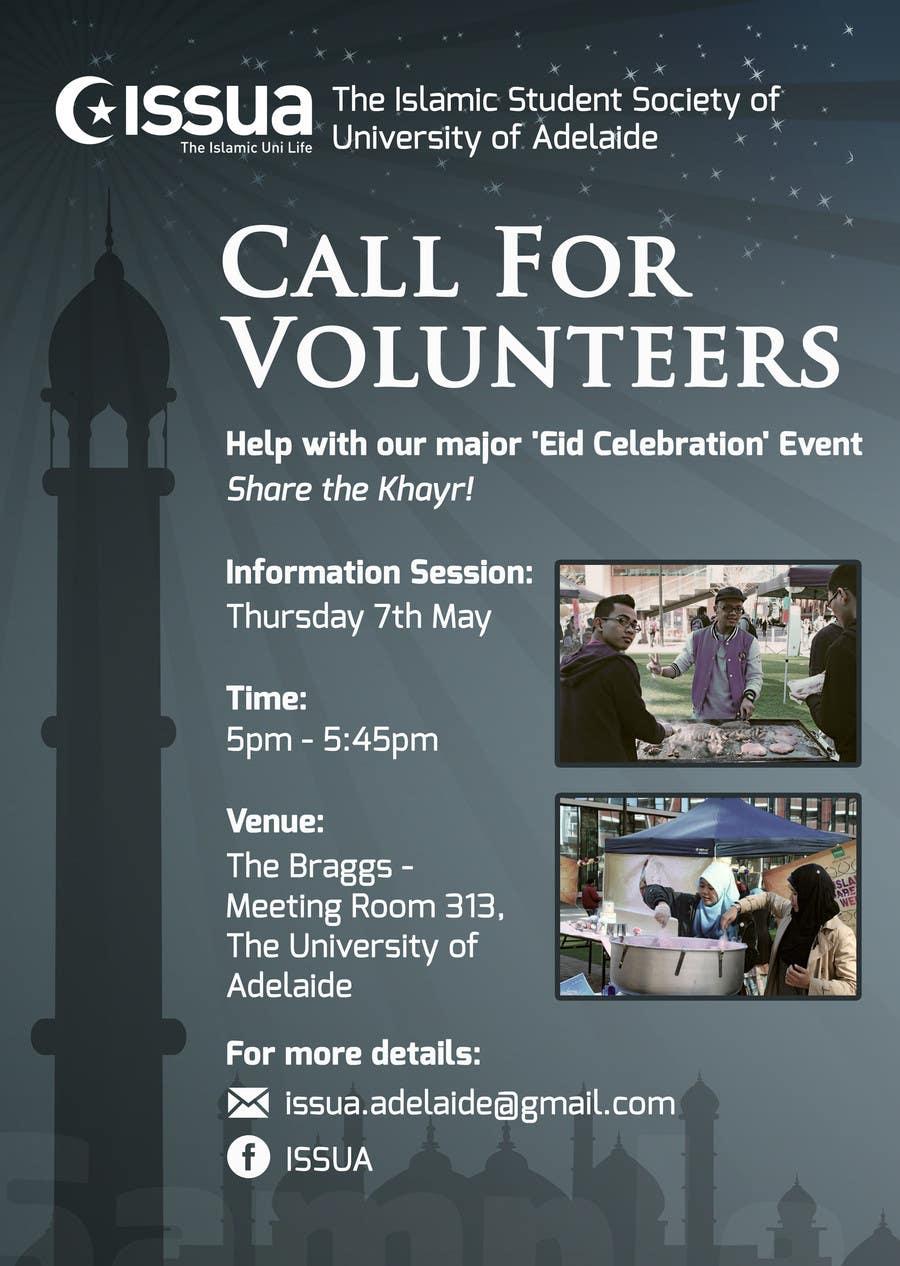 Penyertaan Peraduan #8 untuk 'Call for Volunteers' - Islamic Flyer