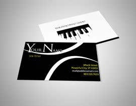 #68 para Design some Business Cards for a Piano teaching business por Fidelism