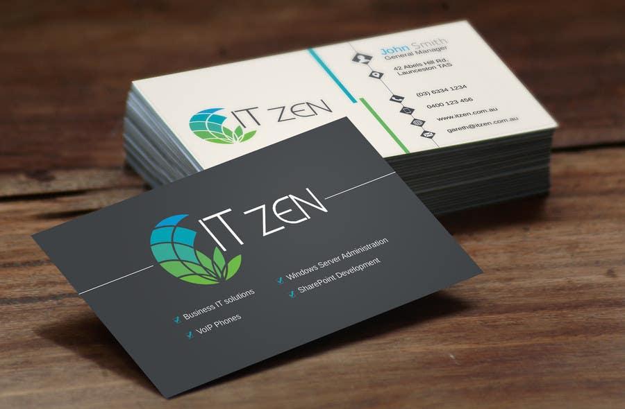 Konkurrenceindlæg #79 for Design some Business Cards for IT Zen