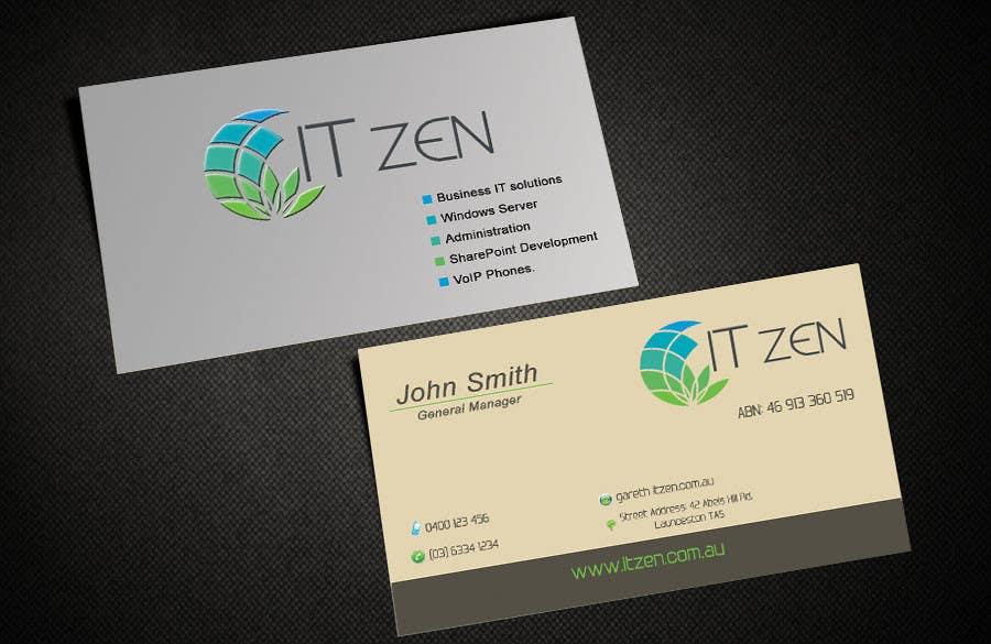 Konkurrenceindlæg #127 for Design some Business Cards for IT Zen